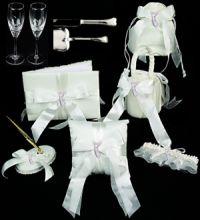 angel theme wedding accessories ensemble