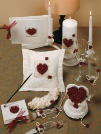 romantic rose wedding accessories ensemble